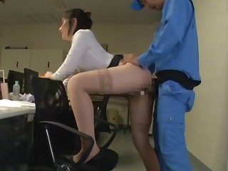 Japanese copier fucked stranger overdue renege and jizzed insusceptible to light
